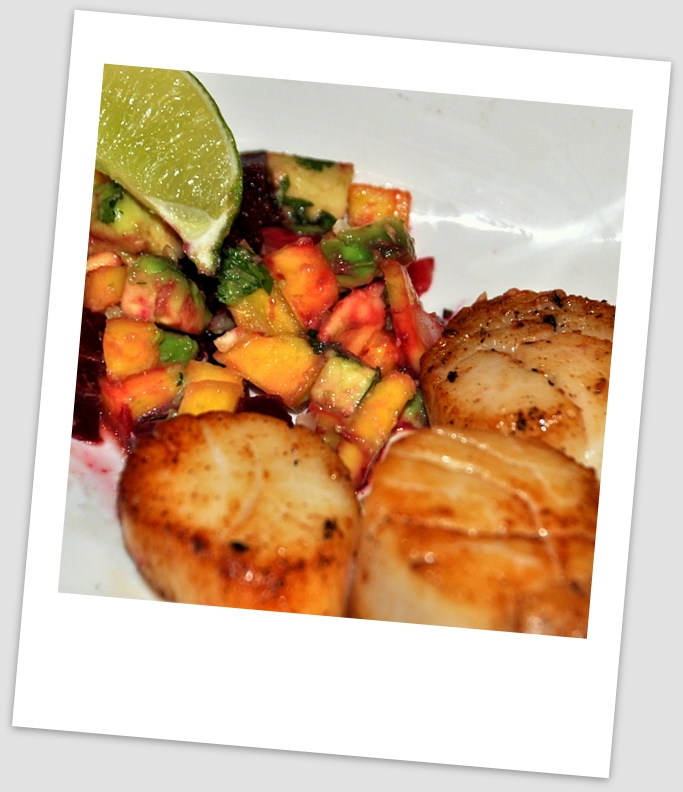 scallops with salsa