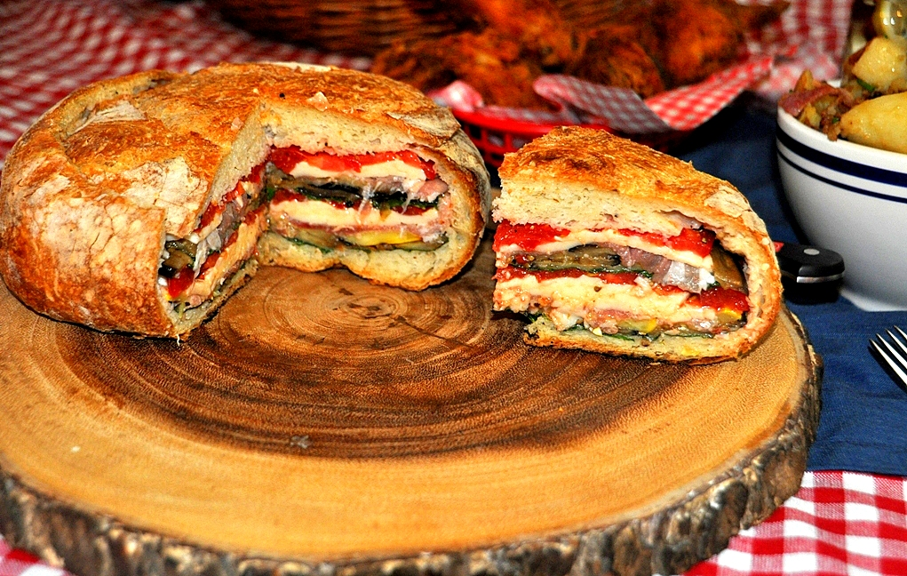 Stuffed Bread a.k.a Giant Sandwich - Magdalicious food blog