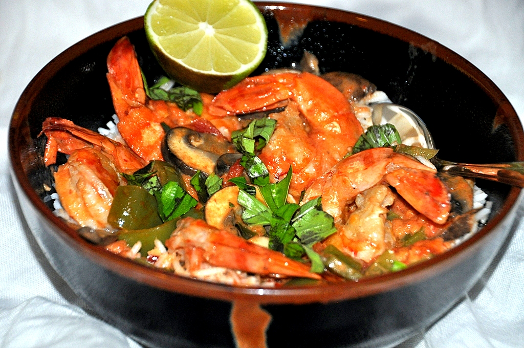 shrimp with rice8